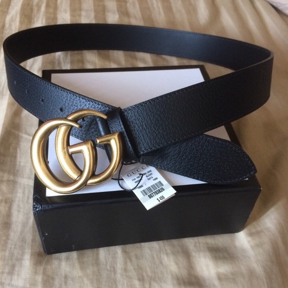 182feded453 NWT Men s Authentic Double G Buckle Gucci Belt 85